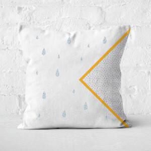 Abstract Raindrops Square Cushion