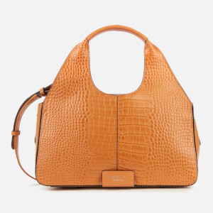 Radley Women's Lisson Grove Croc Medium Ziptop Multiway - Dark Butter