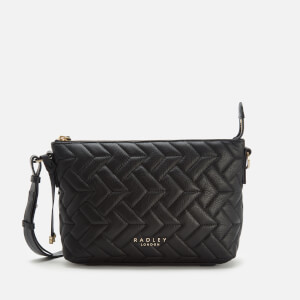 Radley Women's Wood Street Quilt Medium Ziptop Cross Body Bag - Black