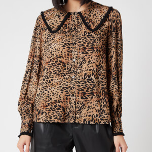 RIXO Women's Misha Top - Leopard Patchwork