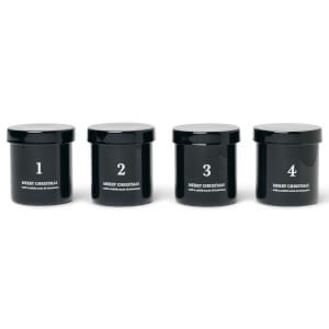 Ferm Living Scented Advent Candles - Set of 4 - Black