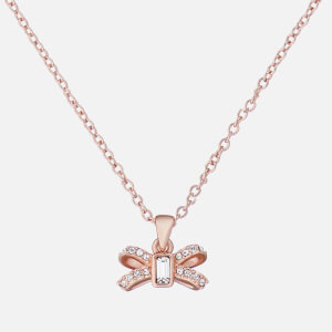 Ted Baker Women's Sabena: Crystal Sparkle Bow Tiny Pendant - Rose Gold/Crystal