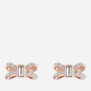 Ted Baker Women's Sabla: Crystal Sparkle Bow Stud Earrings - Rose Gold/Crystal