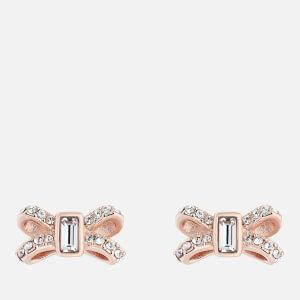 Ted Baker Women's Sabla: Crystal Sparkle Bow Stud Earrings - Rose Gold/Crystal