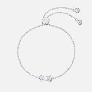 Ted Baker Women's Sabsal: Crystal Sparkle Bow Drawstring Bracelet - Silver/Crystal