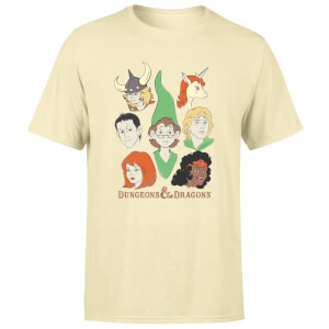 Dungeons & Dragons D&D Cartoon The Party Unisex T-Shirt - White Vintage Wash
