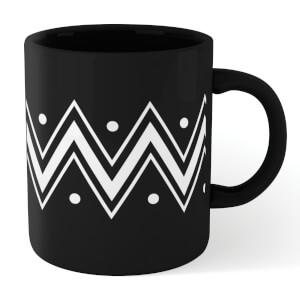 Triple Zig Zag Dots Mug - Black