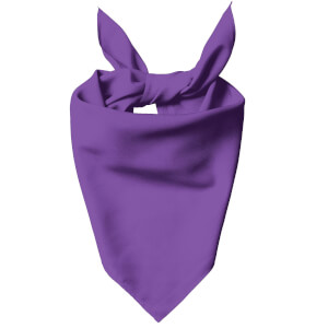Bright Purple Dog Bandana