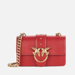 Pinko Women's Love Mini Icon Simply Bag - Ruby Red