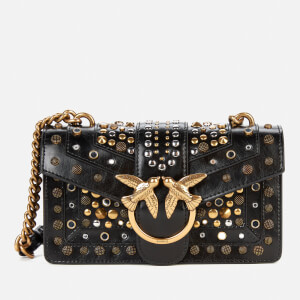 Pinko Women's Love Mini Icon New Studs Bag - Black