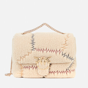 Pinko Women's Love Bag Puff Furry Shoulder Bag - Cream
