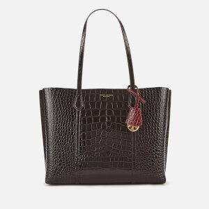 Tory Burch Women's Perry Embossed Small Triple-Compartment Tote Bag - Black