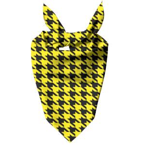 Yellow Dogtooth Dog Bandana