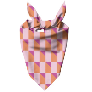 Colourful 3D Shape Dog Bandana