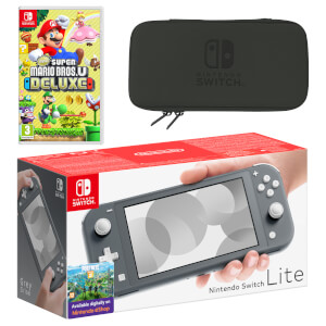 Nintendo Switch Lite (Grey) New Super Mario Bros. U Deluxe Pack