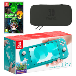 Nintendo Switch Lite (Turquoise) Luigi's Mansion 3 Pack