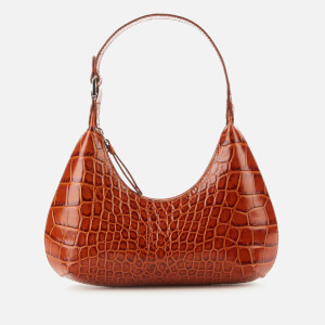 by FAR Women's Baby Amber Croco Embossed Shoulder Bag - Tan