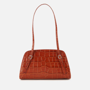by FAR Women's Lora Croco Embossed Shoulder Bag - Tan