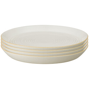 Denby Impression Cream Spiral Dinner Plates (Set of 4)