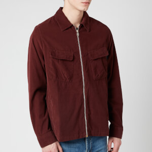 PS Paul Smith Men's Zipped Overshirt - Burgundy