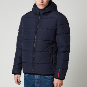 Superdry Men's Sports Puffer Jacket - Navy/Black