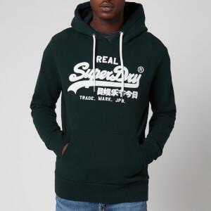 Superdry Men's Vintage Label Embroidery Hoodie - Pine