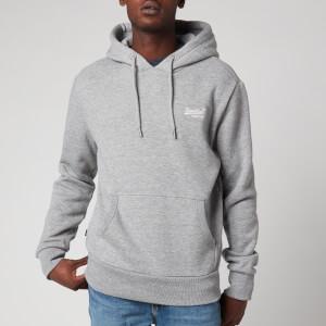 Superdry Men's Orange Label Popover Hoodie - Soft Grey Marl