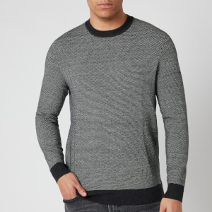 Superdry Men's Orange Label Crewneck Jumper - Dark Charcoal Birdseye