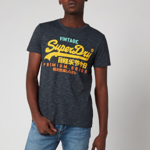 Superdry Men's Vintage Logo Tri T-Shirt - Eclipse Navy Feeder