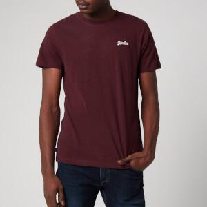 Superdry Men's Orange Label Vintage Embroidered T-Shirt - Deepest Burgundy Grit
