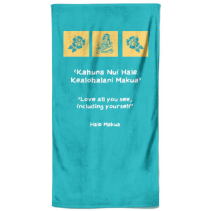 Hawaiian Quote Beach Towel