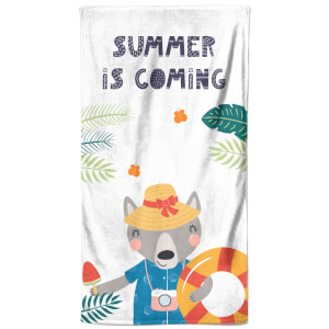 Summer Is Coming Beach Towel