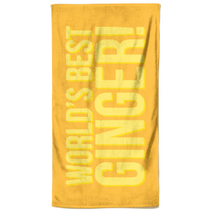 World's Best Ginger Beach Towel