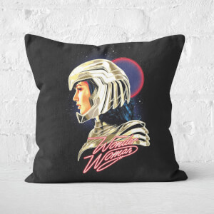 Wonder Woman Retro Neon Square Cushion
