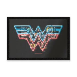 Wonder Woman Neon Sign Entrance Mat
