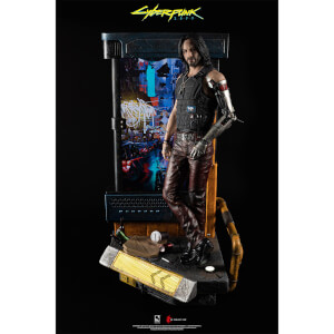 PureArts CyberPunk 2077: Johnny Silverhand 1/4 Scale Statue (Comes with LCD Screen and Inbuilt Stereo Speakers)