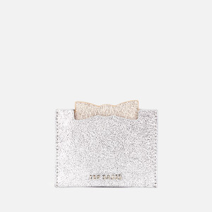 Ted Baker Women's Mellan Slotted Bow Pull Out Mirror Card Holder - Silver