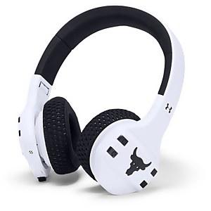 UA Sport Wireless Train Project Rock – Engineered by JBL - White on Ear headphones