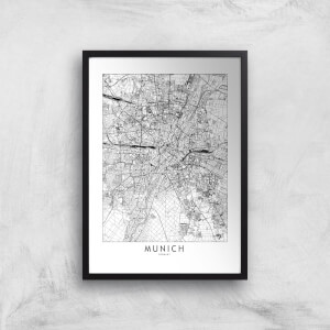 Munich City Map Giclee Art Print