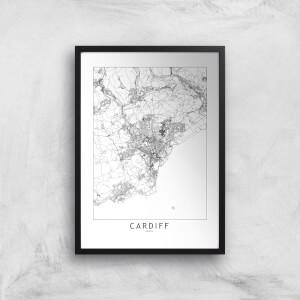 Cardiff City Map Giclee Art Print