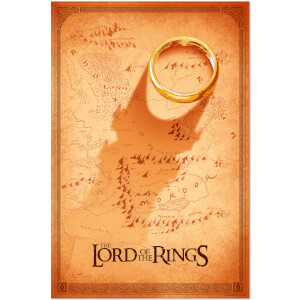 Lord of the Rings Foil Screenprint by Doaly