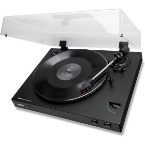 ION Audio Pro80 - Fully Automatic Turntable/Vinyl Record Player with 2 Playback Speeds, Quiet Belt-Drive System, Dustcover & Coaxial Audio Output