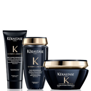 Kérastase Chronologiste Youth Revitalising Pre-Shampoo, Shampoo and Masque Bundle