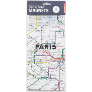 Kikkerland Paris Map Magnets