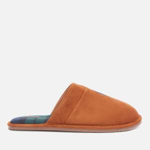 Polo Ralph Lauren Men's Klarence Suede Mule Slippers - Snuff