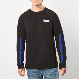Back to the Future 3D Logo Unisex Long sleeve - Black