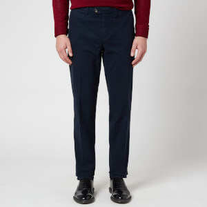 Canali Men's Cotton Cashmere Stretch Slim Fit Chinos - Blue
