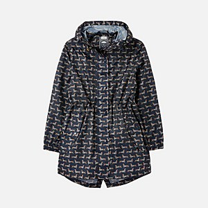 Joules Women's Golightly Printed Waterproof Packaway - Navy Sausage Dog