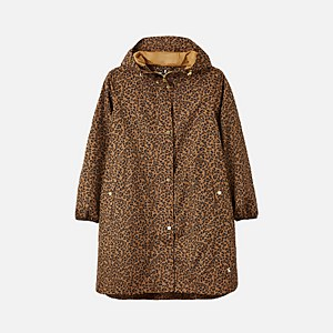 Joules Women's Rainwell Print Waterproof Raincoat - Tan Leopard