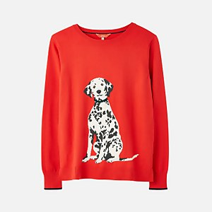 Joules Women's Miranda Intarsia Knit Jumper - Dalmatian